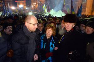 Ukraina: Ashton w Kijowie spotkała się z Janukowyczem i poszła na Majdan