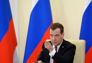 Ukraina potępia wizytę premiera Rosji na Krymie