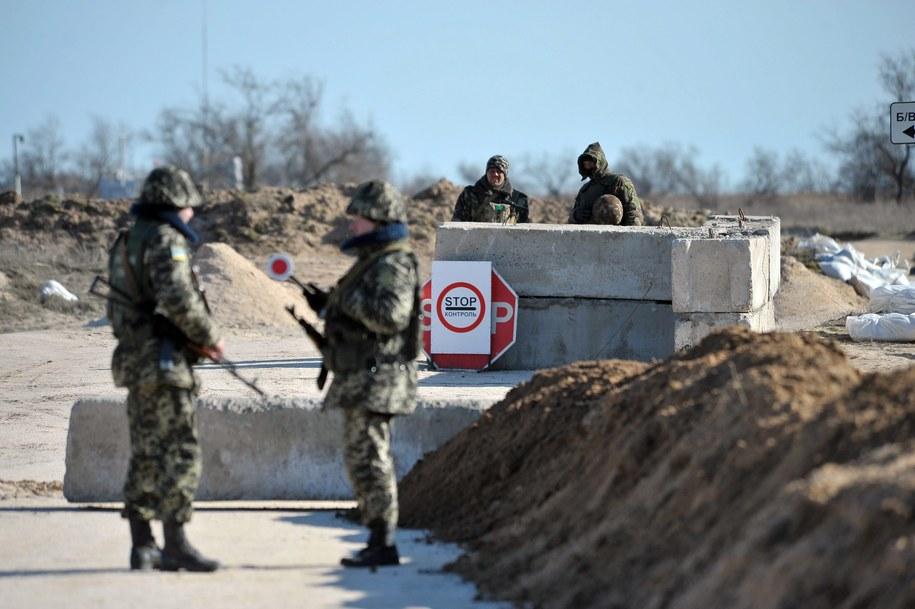 Ukraińscy żołnierze na Krymie /IVAN BOBERSKYY /PAP/EPA