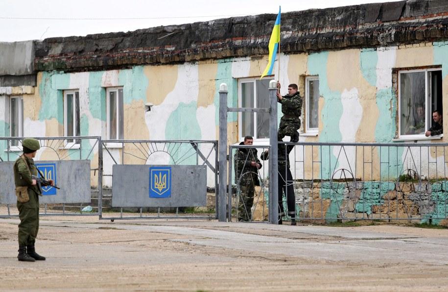 Ukraińscy żołnierze w bazie w Belbeku /ANASTASIA VLASOVA /PAP