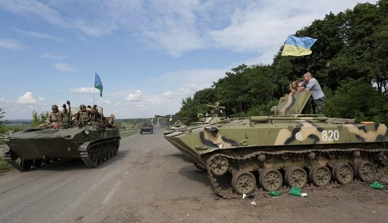 Ukraińska kolumna pancerna ok. 20 km od Doniecka (zdjęcie ilustracyjne) /ANASTASIA VLASOVA /PAP/EPA