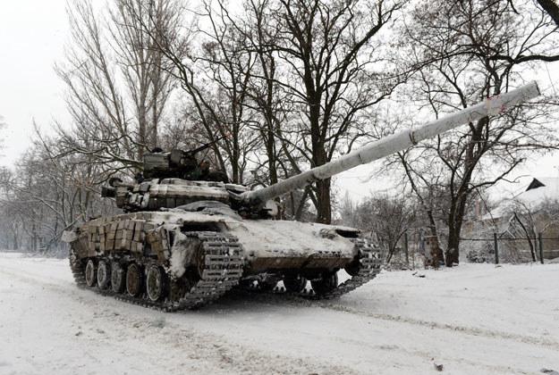 Ukraiński czołg w Donbasie fot. Vasily Maximov /AFP