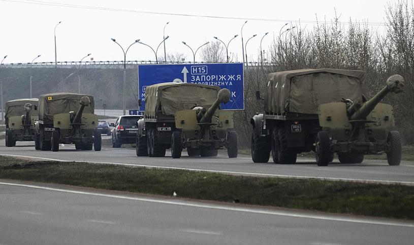 Ukraiński militarny konwój w drodze do Doniecka /Agencja FORUM