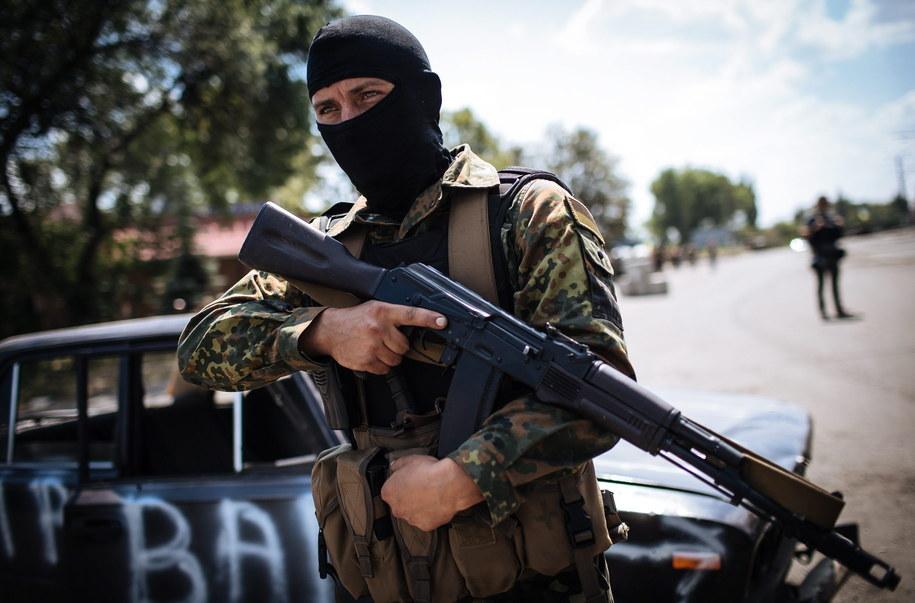 Ukraiński żołnierz na wschodzie kraju /ROMAN PILIPEY /PAP/EPA