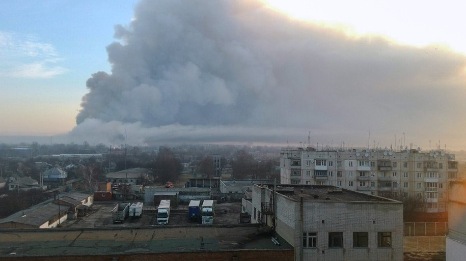 Ukraińskie władze nie wykluczają, że pożar to akt dywersji /UKRAINIAN STATE EMERGENCY SERVICE /PAP/EPA