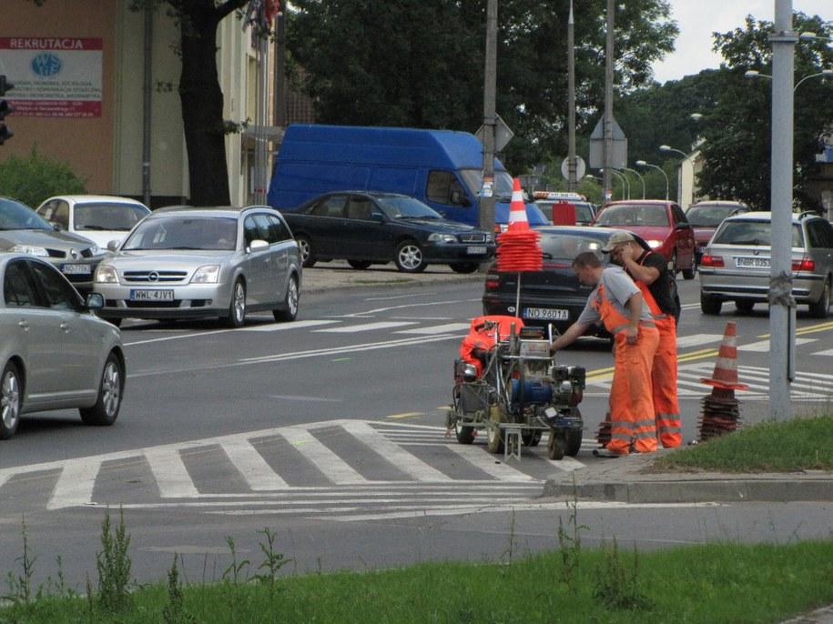 Ulica Wojska Polskiego będzie zwężona. Fot. RMF FM.  /Fot. Andrzej Piedziewicz /RMF FM