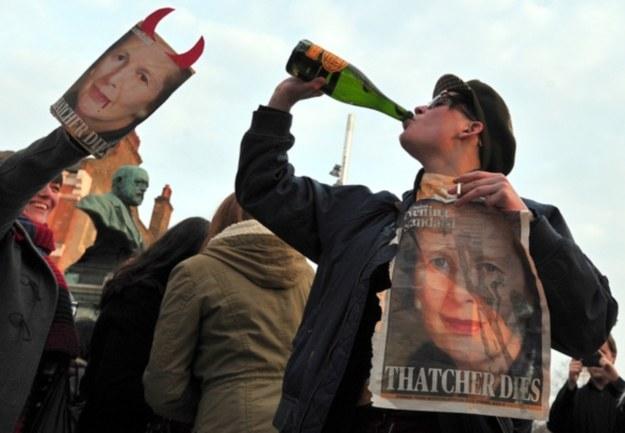 Uliczne festyny i radość z powodu śmierci Thatcher /AFP