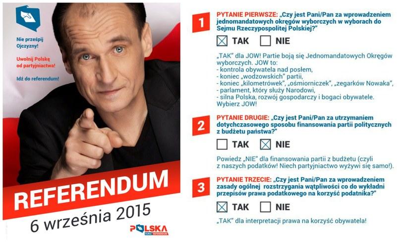 Ulotka ugrupowania Kukiz'15 ws. referendum /ruchkukiza.pl /