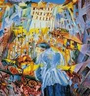 Umberto Boccioni, Hałas uliczny wdzierający się do domu, 1911 /Encyklopedia Internautica