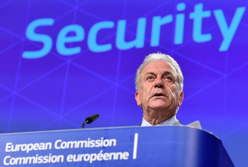Unijny komisarz ds. migracji Dimitris Awramopulos /AFP