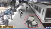 Uratował mężczyznę przed nadjeżdżającym pociągiem!