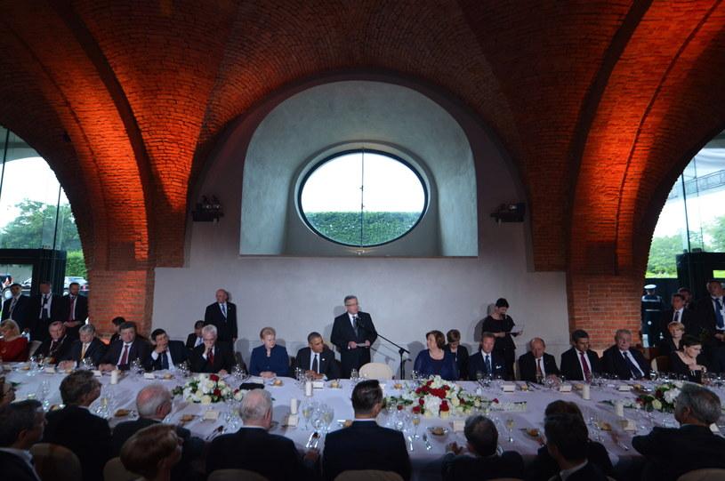 Uroczysta kolacja po gali Nagrody Solidarności /Radek Pietruszka /PAP