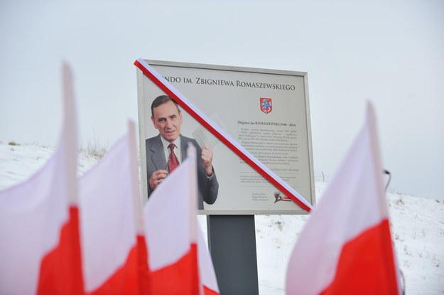 Uroczyste otwarcie ronda im. Zbigniewa Romaszewskiego /Przemysław Piątkowski /PAP