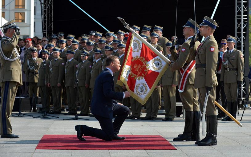Uroczyste przejęcie zwierzchnictwa nad Siłami Zbrojnymi przez prezydenta /Marcin Obara /PAP