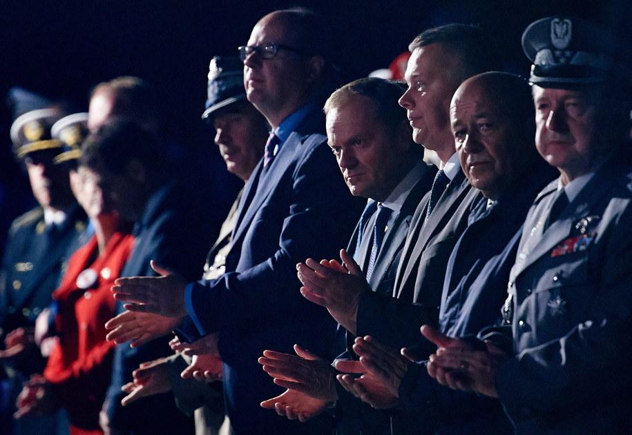 Uroczystości na Westerplatte z udziałem Donalda Tuska /Adam Warżawa /PAP