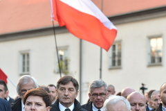 Uroczystości pod Krzyżem Pamięci Narodowej w Krakowie