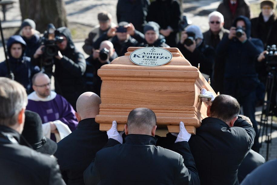 Uroczystości pogrzebowe reżysera Antoniego Krauzego /Jacek Turczyk /PAP