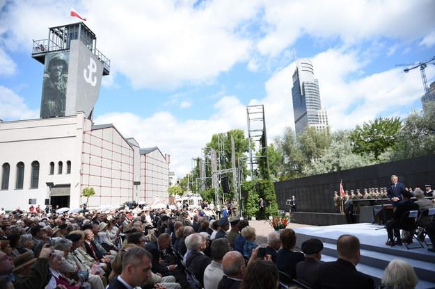 Uroczystości upamiętniające 71. rocznicę wybuchu Powstania Warszawskiego /Jacek Turczyk /PAP