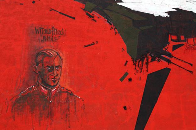 Ursynowski mural upamiętniający rotmistrza Pileckiego i Żołnierzy Wyklętych /Joanna Borowska /Agencja FORUM