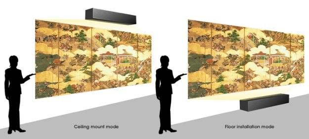 Urządzenie można wykorzystać do przeprowadzenia projekcji z odległości od 0 do 188 mm od ekranu (0 - 7cali) /materiały prasowe