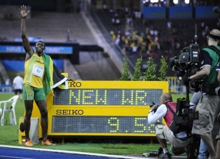 Usain Bolt i jego znakomity wynik /AFP