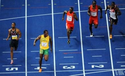 Usain Bolt mistrzem świata w biegu na 100 metrów /AFP