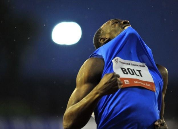 Usain Bolt rozczarowany wynikiem biegu na 300 m /AFP