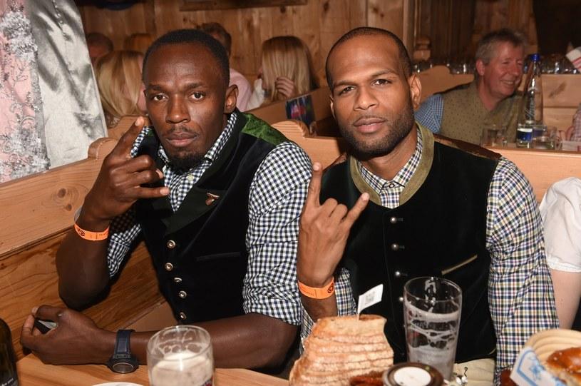 Usain Bolt (z lewej) i Germaine Mason we wrześniu ubiegłego roku /PAP/EPA