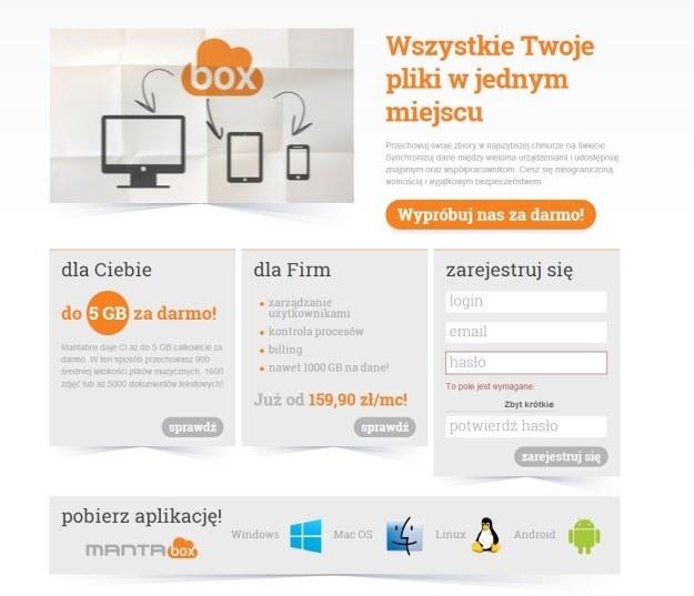 Usługa Mantabox.com - realizowana we współpracy z polską firmą Oktawave /materiały prasowe