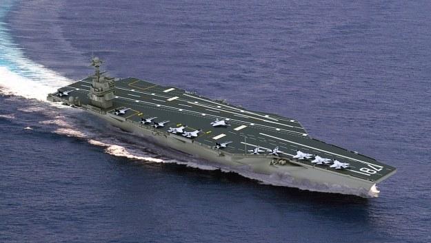 USS Gerald R. Ford - wizualizacja.    Fot. Navy /materiały prasowe