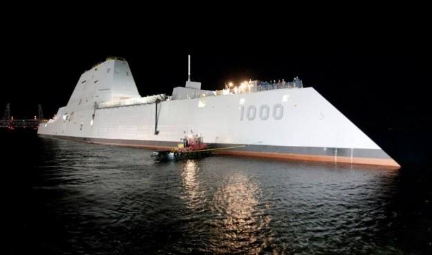 USS Zumwalt.    Fot. General Dynamics /materiały prasowe