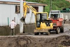 Usuwanie skutków powodzi w Kasince Małej