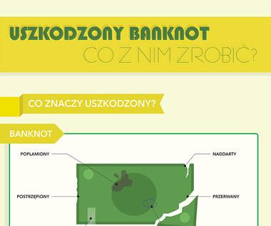 Uszkodzony banknot. Co z nim zrobić? (infografika)
