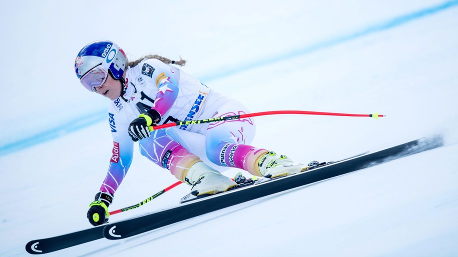 Utytułowana Amerykanka Lindsey Vonn - wracająca do rywalizacji po blisko rocznej, spowodowanej kontuzją przerwie - na trasie zjazdu w Altenmarkt-Zauchensee /CHRISTIAN BRUNA /PAP/EPA
