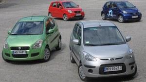 Używane: Hyundai i10, Kia Picanto FL, Suzuki Splash, Toyota Aygo