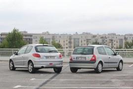 Używane: Peugeot 206, Renault Clio II