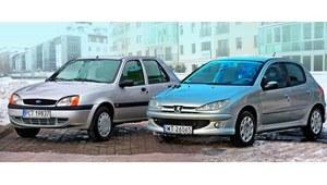Używany Ford Fiesta i Peugeot 206