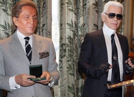 Valentino (po lewej) i Karl Lagerfeld /AFP