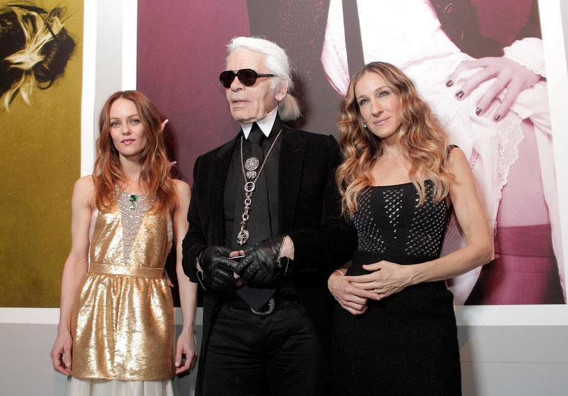 Vanessa Paradis, Karl Lagerfeld i Sarah Jessica Parker /Getty Images