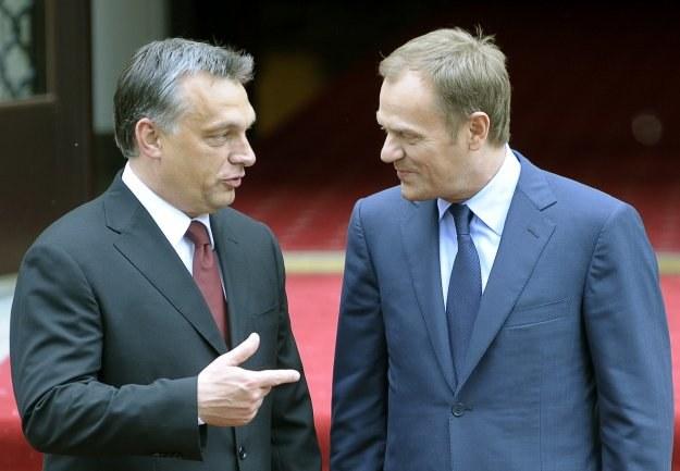 Victor Orban i Donald Tusk /AFP