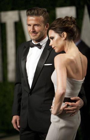 Victoria i David Beckhamowie /fot  /AFP