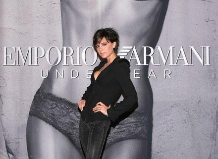 Victoria wystąpiła w kolejnej reklamie bielizny Armaniego /Getty Images/Flash Press Media