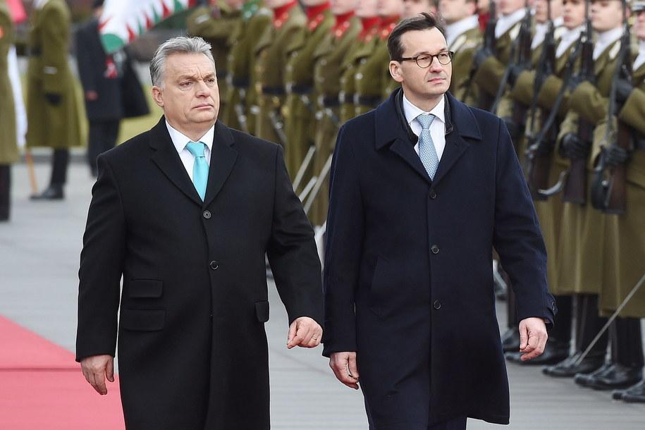 Viktor Orban i Mateusz Morawiecki /Radek Pietruszka /PAP