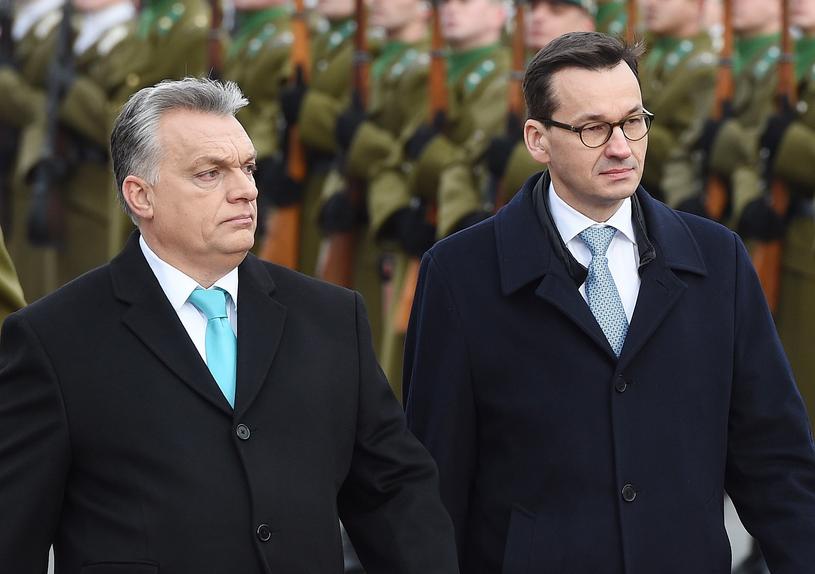 Viktor Orban podczas wizyty w Polsce /Radek Pietruszka /PAP