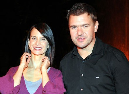 Viola Kołakowska i Tomasz Karolak, fot. Andras Szilagyi /MWMedia