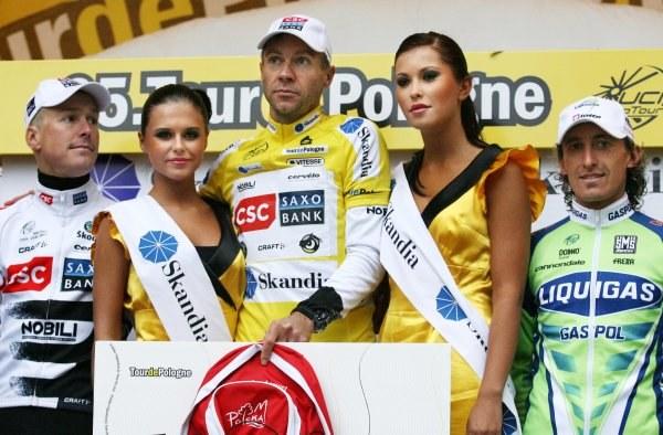 Niemiec Jens Voigt w grupy CSC Saxo Bank wygrał 65. Tour de Pologne. Ostatni etap zakończył się zwycięstwem jego rodaka Roberta Foerstera (Gerolsteiner). Fot. Jacek Bednarczyk