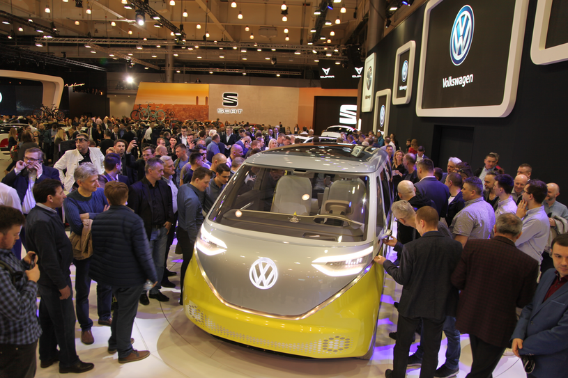 Volkswagen I.D. BUZZ podczas poznańskich targów Moto Show /INTERIA.PL