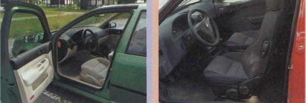 VW oferuje różne kolory tapicerki i sportowe siedzenia. Wnętrze Alfy to nieco ciemny, zunifikowany standard. /Motor