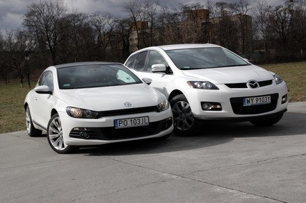VW scirocco i mazda CX-7 /INTERIA.PL