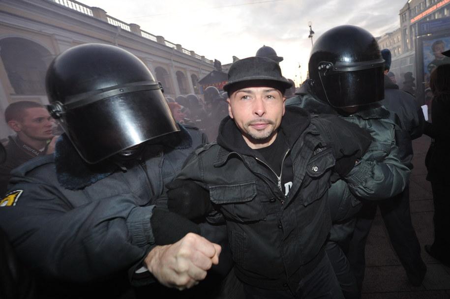 W 2012 roku naprzeciwko Kremla opozycja starła się z policją /Ruslan Shamukov /PAP/EPA